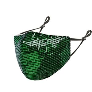 Green Sequin Mask
